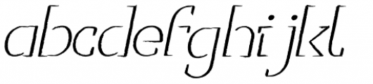 Sofia City Pencil Italic Font LOWERCASE