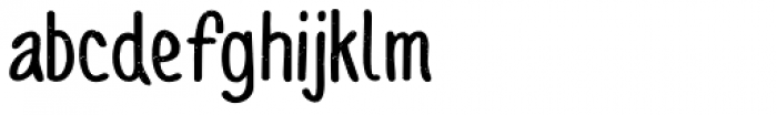 Sofia Rough Script Bold Font LOWERCASE