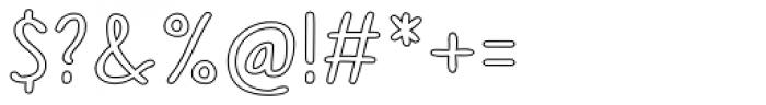 Sofia Rough Script Outline Font OTHER CHARS