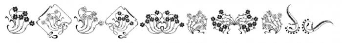 Soft Flowers Font UPPERCASE