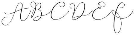 Soft Whisperings Calligraphic Regular Font UPPERCASE