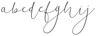 Soft Whisperings Calligraphic Regular Font LOWERCASE