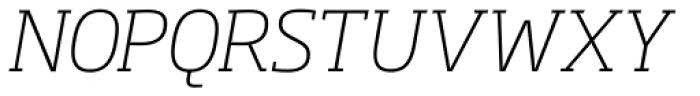 Soho Pro ExtraLight Italic Font UPPERCASE