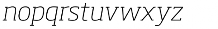 Soho Pro ExtraLight Italic Font LOWERCASE