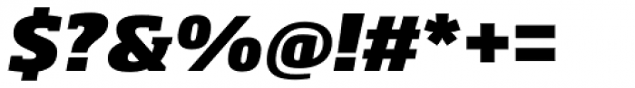 Soho Pro Heavy Italic Font OTHER CHARS