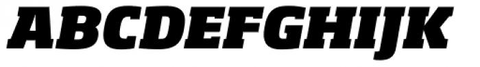 Soho Pro Heavy Italic Font UPPERCASE