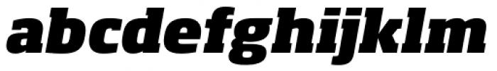 Soho Pro Heavy Italic Font LOWERCASE