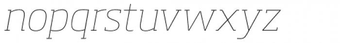 Soho Pro Thin Italic Font LOWERCASE