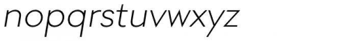 Soin Sans Light Oblique Font LOWERCASE