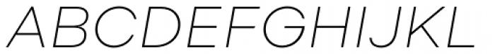 Soin Sans Neue Extra Light Italic Font UPPERCASE