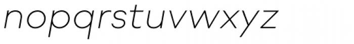Soin Sans Neue Extra Light Italic Font LOWERCASE