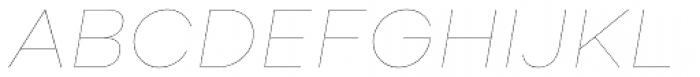 Soin Sans Neue Hairline Italic Font UPPERCASE