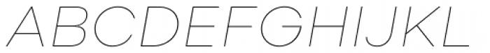 Soin Sans Neue Thin Italic Font UPPERCASE