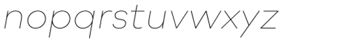 Soin Sans Neue Thin Italic Font LOWERCASE
