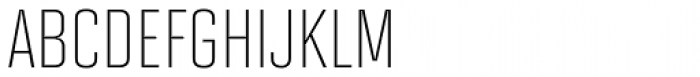 Solano Gothic MVB Light Cap Font UPPERCASE