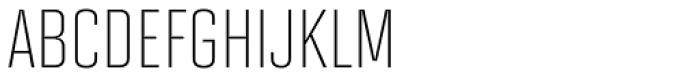 Solano Gothic MVB Light Cap Font LOWERCASE