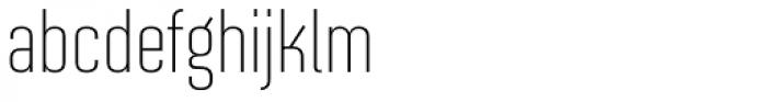 Solano Gothic Retro MVB Light Font LOWERCASE