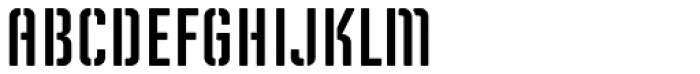 Solano Gothic Retro MVB Stencil SC Font UPPERCASE