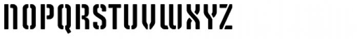 Solano Gothic Retro MVB Stencil SC Font LOWERCASE