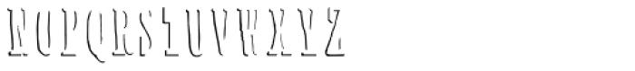 Solar Caps 2 Shadow Font UPPERCASE