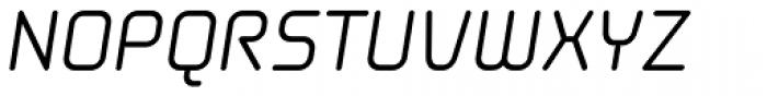 Solaris EF Regular Oblique Font UPPERCASE