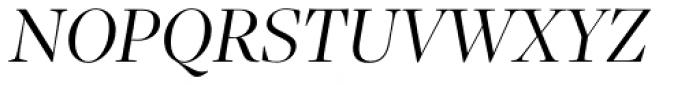 Sole Serif Big Display Light Italic Font UPPERCASE