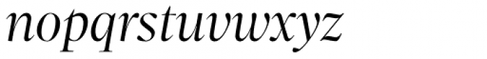 Sole Serif Big Display Light Italic Font LOWERCASE