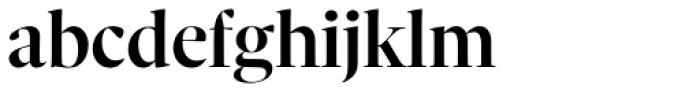 Sole Serif Big Display Medium Font LOWERCASE