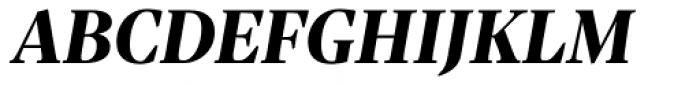Sole Serif Headline Extra Bold Italic Font UPPERCASE