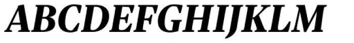 Sole Serif Subhead Extra Bold Italic Font UPPERCASE