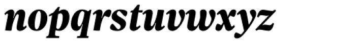 Sole Serif Subhead Extra Bold Italic Font LOWERCASE