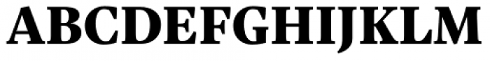 Sole Serif Text Black Font UPPERCASE
