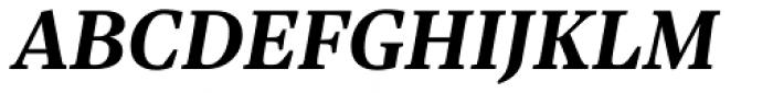 Sole Serif Text Bold Italic Font UPPERCASE