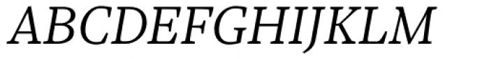 Sole Serif Text Light Italic Font UPPERCASE