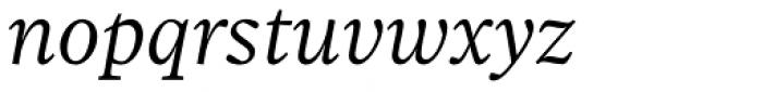 Sole Serif Text Light Italic Font LOWERCASE