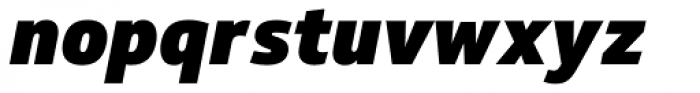 Soleto Black Italic Font LOWERCASE