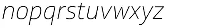 Soleto Thin Italic Font LOWERCASE