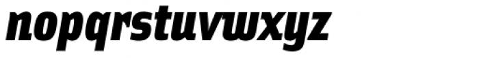Solex Black Italic Font LOWERCASE