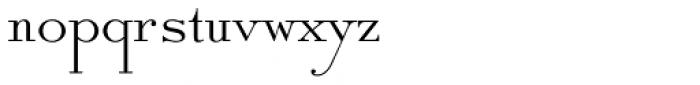 Solid Antique Std Roman Font LOWERCASE