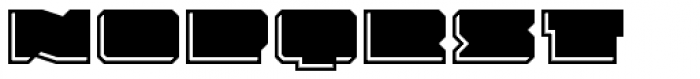 Solida Engraved Wide Font LOWERCASE