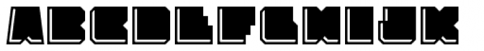 Solida Engraved Font UPPERCASE