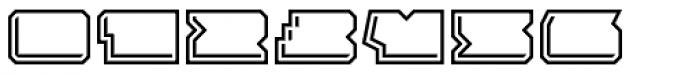 Solida Outline Engraved Wide Font OTHER CHARS