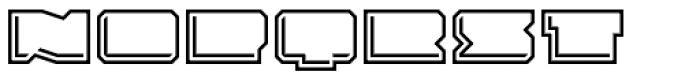 Solida Outline Engraved Wide Font UPPERCASE