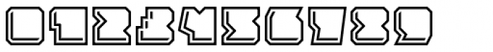 Solida Outline Engraved Font OTHER CHARS