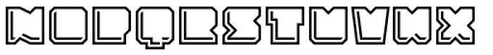 Solida Outline Engraved Font UPPERCASE