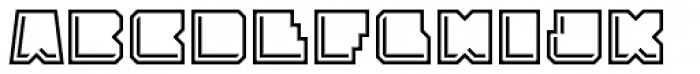 Solida Outline Engraved Font LOWERCASE