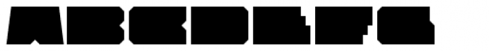 Solida Regular Wide Font UPPERCASE