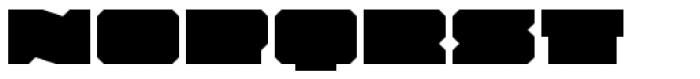 Solida Regular Wide Font LOWERCASE