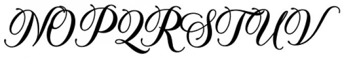 Solistaria Script Regular Font UPPERCASE