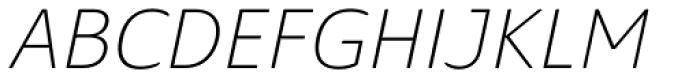 Solitas Ext Thin Italic Font UPPERCASE